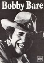Bobby Bare Down & Dirty Country & Western Record LP 1980s CBS Launch Photo