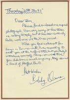 Bobby Davro Comedian Impressionist Early Career Hand Signed 1983 Letter