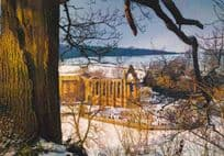 Bolton Abbey At Christmas Snow Covered Musuem Photo Award Winner Postcard