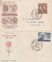 Bombay Indian Posts Telegraphs Vintage 2x First Day Cover