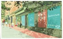 Book Culture New York City Store Shop Oil Painting Postcard