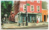 Books Are Magic Brooklyn Shop New York Bookstore Painting Postcard