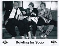 Bowling For Soup USA Indie Group FULL Hand Signed Photo