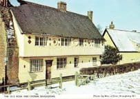 Braughing Rose & Crown Pub Inn Snow Xmas Hertfordshire Womens Institute Postcard