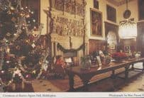 Bridlington Burton Agnes Hall Christmas Tree Yorkshire Postcard