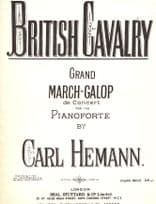 British Cavalry Carl Henmann March Galop Military Olde Sheet Music