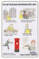British People & Our Great Post Office Royal Mail Large Comic Humour Postcard