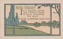 Broken Hearted Strained Far Away Strain Wish You Here Old Romance Love Postcard