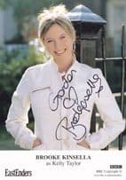 Brooke Kinsella as Kelly Taylor Eastenders Hand Signed Cast Card Photo