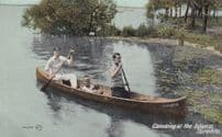 Canada Canoeing at the Island Toronto Boat Postcard