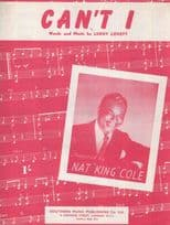 Cant I Nat King Cole 1950s Sheet Music