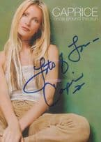 Caprice Bourret Sexiest Ever Model Woman Cover Girl Hollyoaks Hand Signed Photo