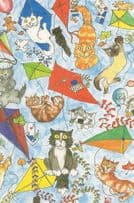 Cat Kittens With Kites Flying A Kite Kittykite Painting Postcard