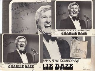 Charlie Daze Scottish Magician Comedy Act in ITVs The Comedians Hand Signed Lot