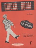 Chicka Boom Guy Mitchell 1950s Sheet Music