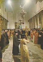 Christmas Day Mass At Bethlehem Service of Consecration Postcard