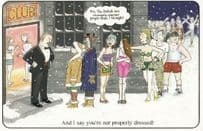 Christmas Freezing Nightclub Disco But Naked Women Big Tourist Comic Postcard
