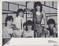 Chrome Molly Heavy Metal Band Vintage Early Career Management Publicity Photo