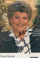 Claire Rayner BBC Pebble Mill At One Hand Signed Cast Photo