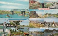 Cleethorpes River Dolphin Boating 4x 1970s Postcard s