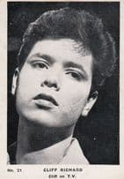 Cliff Richard Appearts On TV Photo Vintage Cigarette Trading Card