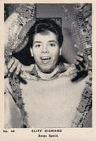 Cliff Richard Christmas Xmas Spirit Cracker Old Cigarette Photo Trading Card