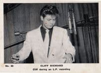Cliff Richard During Make LP Record Recording Old Cigarette Photo Trading Card