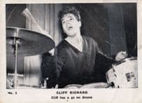 Cliff Richard Has A Go Playing Drums Old Cigarette Photo Trading Card