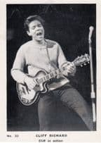 Cliff Richard In Action Playing Guitar Photo Vintage Trading Card