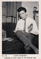 Cliff Richard Listening To Tapes In Dressing Room Cigarette Photo Trading Card