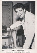 Cliff Richard Listens To LP 45 Record Being Made Cigarette Photo Trading Card
