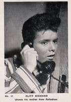 Cliff Richard London Palladium Telephones Mum Old Cigarette Photo Trading Card