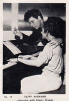 Cliff Richard Rehersing With Cherry Walner Old Cigarette Photo Trading Card