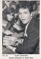 Cliff Richard Signing Autograph s At Radio Show Cigarette Photo Trading Card