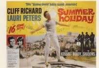 Cliff Richard Summer Holiday Movie Poster Postcard