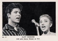 Cliff Richard With Cherry Wainer on Television TV Antique Cigarette Photo  Card
