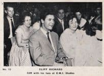 Cliff Richard With Fans at EMI Record Studio Old Cigarette Photo Trading Card