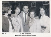 Cliff Richard With North London Fans Rare Vintage Cigarette Photo Trading Card