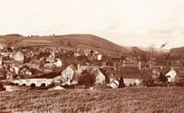 Clun Shropshire From School Road Aerial Real Photo Postcard