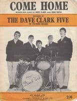 Come Home The Dave Clark Five 1960s Sheet Music
