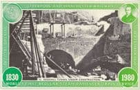 Construction Of Redhill Tunnel Liverpool Manchester Railway Postcard