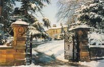 Conyngham Hall in Christmas Snow Wiltshire Postcard
