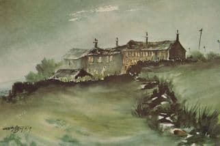 Cop Hill Colne Valley Yorkshire Painting Postcard
