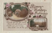 Crook Lancashire 1917 WW1 Frank Greetings Postcard