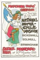 CSA Chief Scout Scouts Solihull Motorcycle Show Museum West Midlands Postcard
