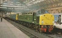 D306 Class 40 Train at Manchester Piccadilly Station 1981 Postcard