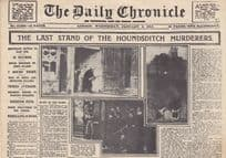 Daily Chronicle London Serial Killer Murders Vintage Mini Newspaper