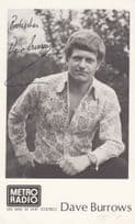 Dave Burrows Vintage Metro Radio DJ Hand Signed Cast Card Photo