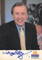 David Frost TVAM Breakfast Television Hand Signed Cast Card Photo