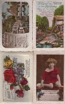 Dear Niece 4x  Antique Birthday Postcard s